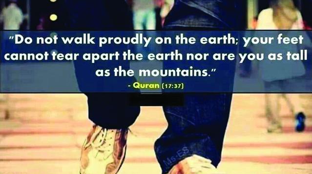 Koranvers over arrogantie & bescheidenheid